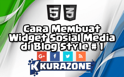 Cara Membuat Widget Sosial Media di Blog - Style #1