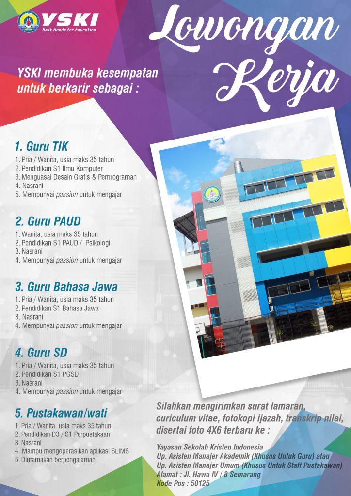 Lowongan Kerja Guru Tik Guru Paud Guru Bahasa Jawa Guru Sd Pustakawan Wati Di Semarang Bursa Lowongan Kerja