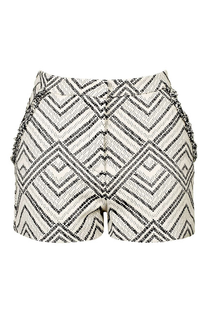cream black fringed shorts, patterned fringed shorts, festival style shorts,