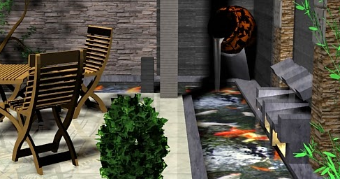gambar kolam ikan dalam rumah minimalis - sekitar rumah