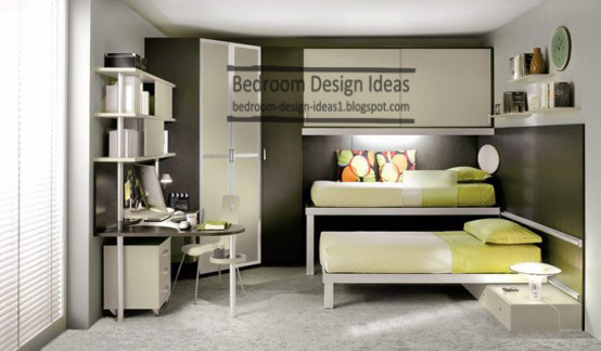 Small Kids Bedroom Design Ideas Double Bed Furniture Two Tallboys And Disk For Studying