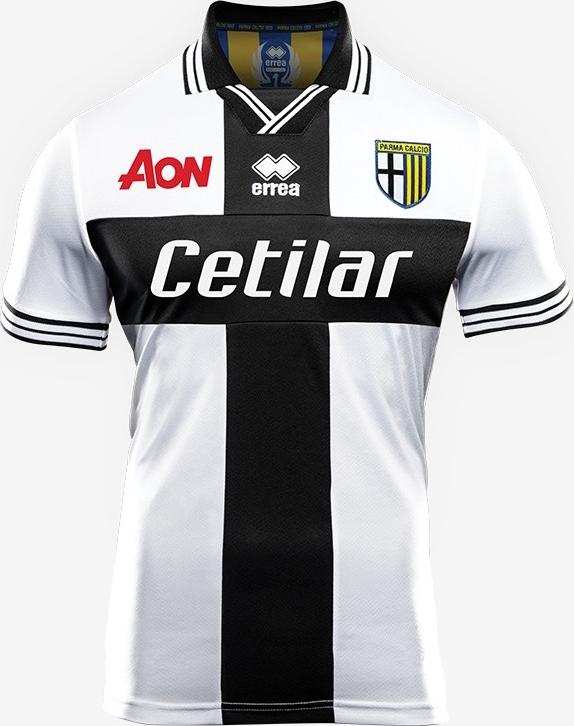 A fabricante de material esportivo Errea apresentou o uniformes que o Parma  Calcio usará na temporada 2018 19 do Campeonato Italiano de futebol. 7999d4678b48e