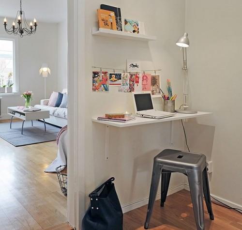 Comment créer un bureau dans une petite entrée