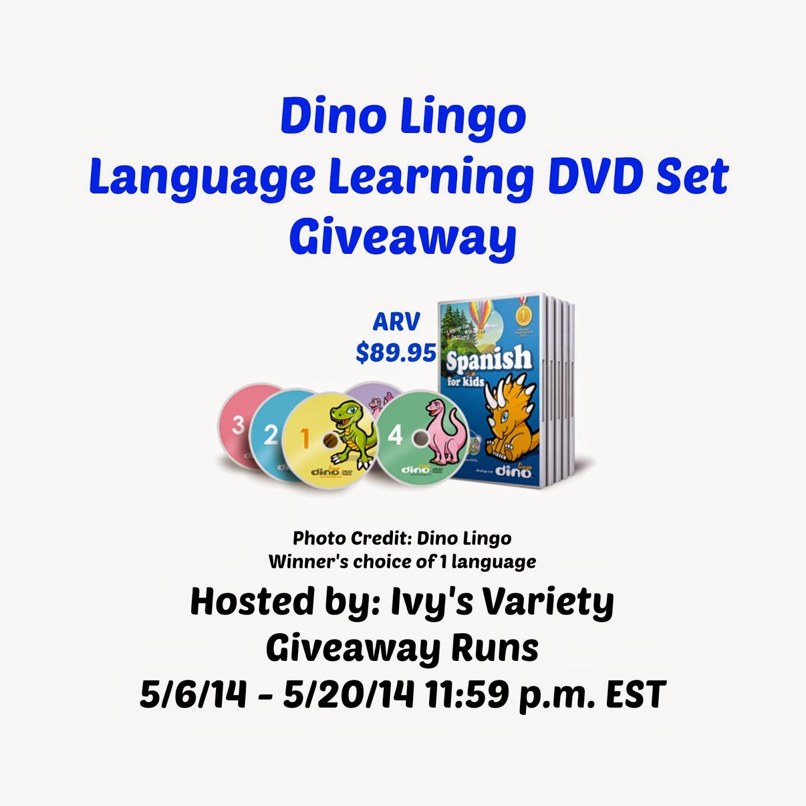 Dino Lingo language learning set giveaway