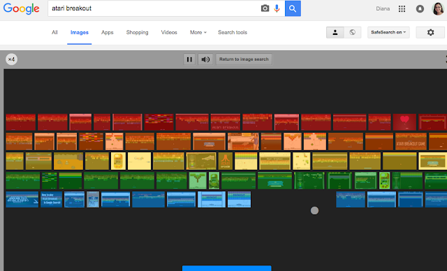 Google Easter Eggs - Atari Breakout