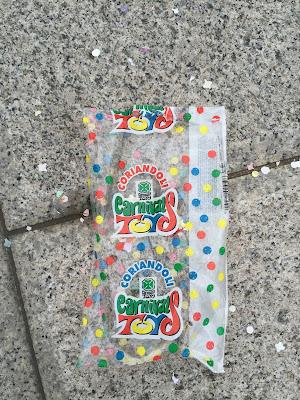 coriandoli (confetti) in Bergamo