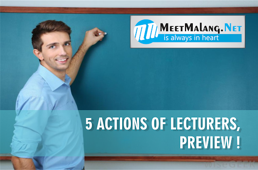 5 Actions of Lecturers