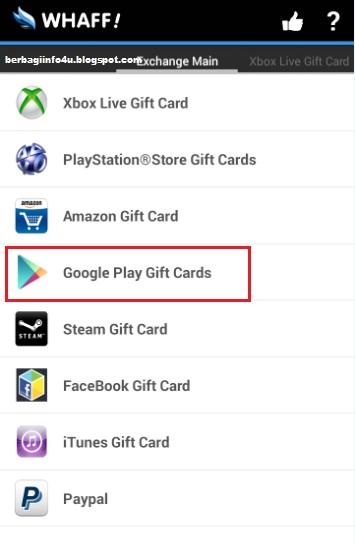 Cara Mencairkan Menukarkan Earning Whaff Ke Google Play Gift Card