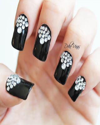 10 diseños de uñas con JOYAS que no te puedes PERDER