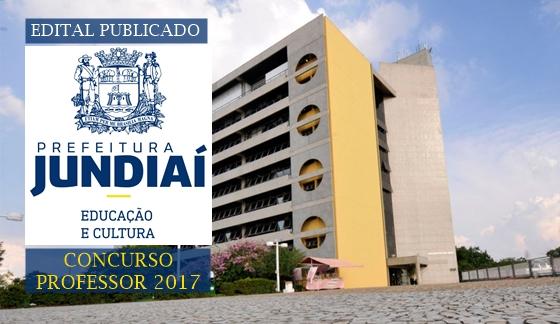 edital Concurso Prefeitura de Jundiaí 2017