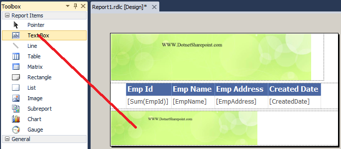 how to display page number in rdlc report | DotNetSharePoint