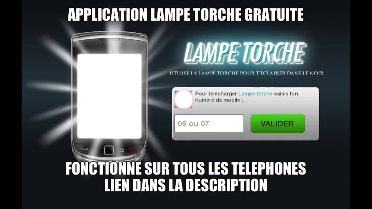 application lampe torche pour blackberry