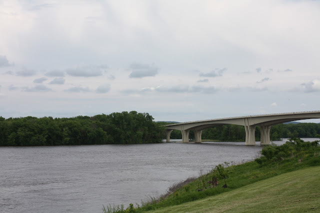 The Mississippi River from the Dresbach Welcome Center is Minnesota