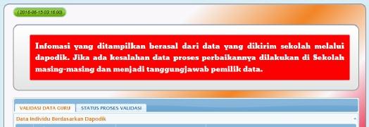 Infomasi yang ditampilkan berasal dari data yang dikirim sekolah melalui dapodik.