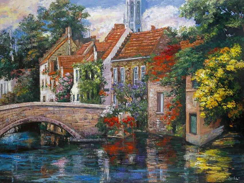 Cha soo griffith cityscape painter tutt 39 art pittura for Paesaggi marini dipinti