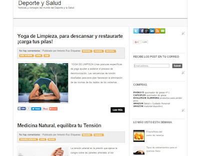Deporte y Salud, blog dedicado a la salud y el deporte