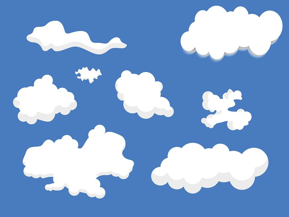 Цветные картинки облаков