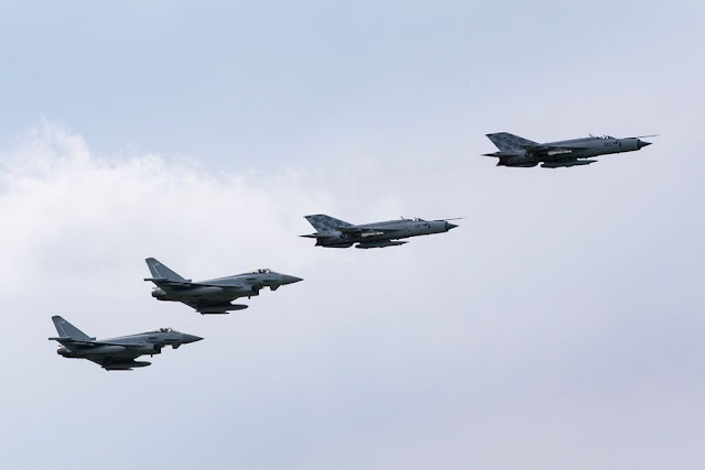 RAF Typhoons train Croatian MiG-21