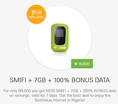 How To Get Smile 7GB Data And 100% Double Data Bonus