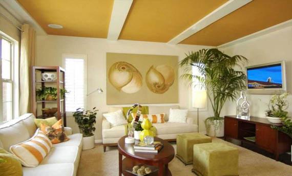 Kombinasi Warna Plafon Ruang Tamu Sederhana
