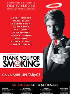 Affiche française de Thank You for Smoking, de Jason Reitmann (2005)