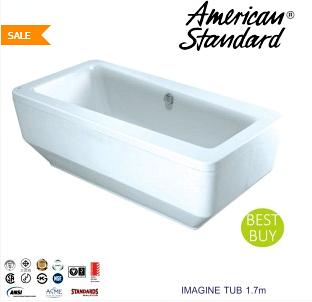 Harga Bathtub Berbagai Merek dan Model Terbaru 2017  - American Standar Imagine Tub 1,7 m