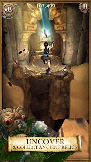 Adalah sebuah game runner layaknya temple run Unduh Game Android Gratis Lara Croft: Relic Run apk + obb
