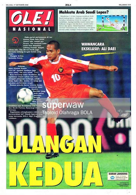 PIALA ASIA 2000 KURNIAWAN DWI YULIANTO INDONESIA