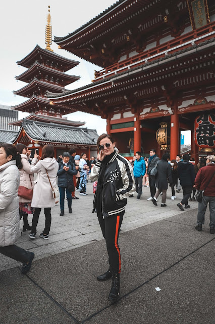 Alicia Mara at Senso-ji Temple