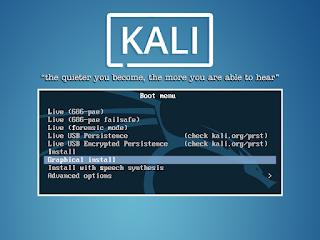 instal kali linux
