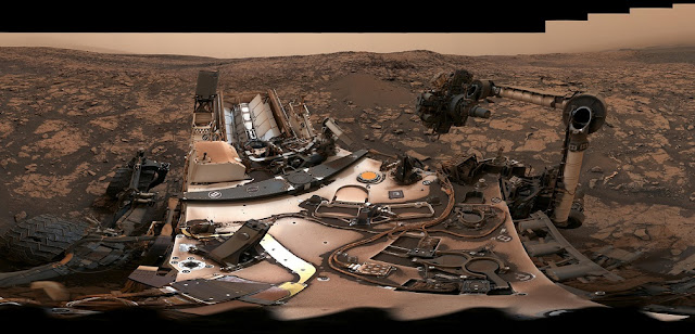 This 360-degree panorama was taken on Aug. 9 by NASA's Curiosity rover at its location on Vera Rubin Ridge. Image Credit: NASA/JPL-Caltech/MSSS
