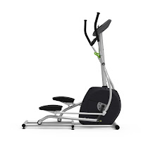"Universal E40 Elliptical Trainer, compact size, with perimeter-weighted high-inertia flywheel, ECB magnetic resistance, 17.5"" stride length, 8 resistance levels, 7 workout programs"