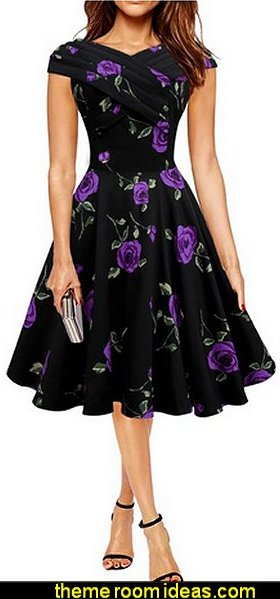 Black Butterfly Enya Vintage Infinity Pin-up Dress