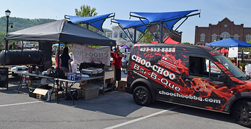 Choo Choo BBQ from Chattanooga/Red Bank competing at a World Food Championship qualifying round in Ooltewah TN