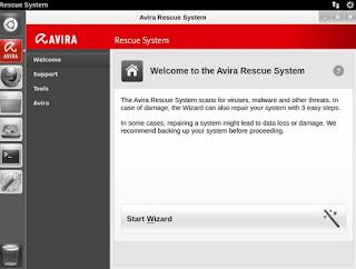 programma Avira Rescue System