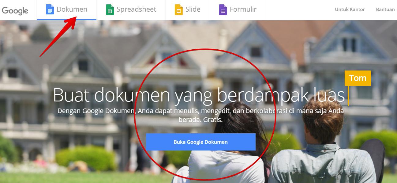 Halaman utama google docs