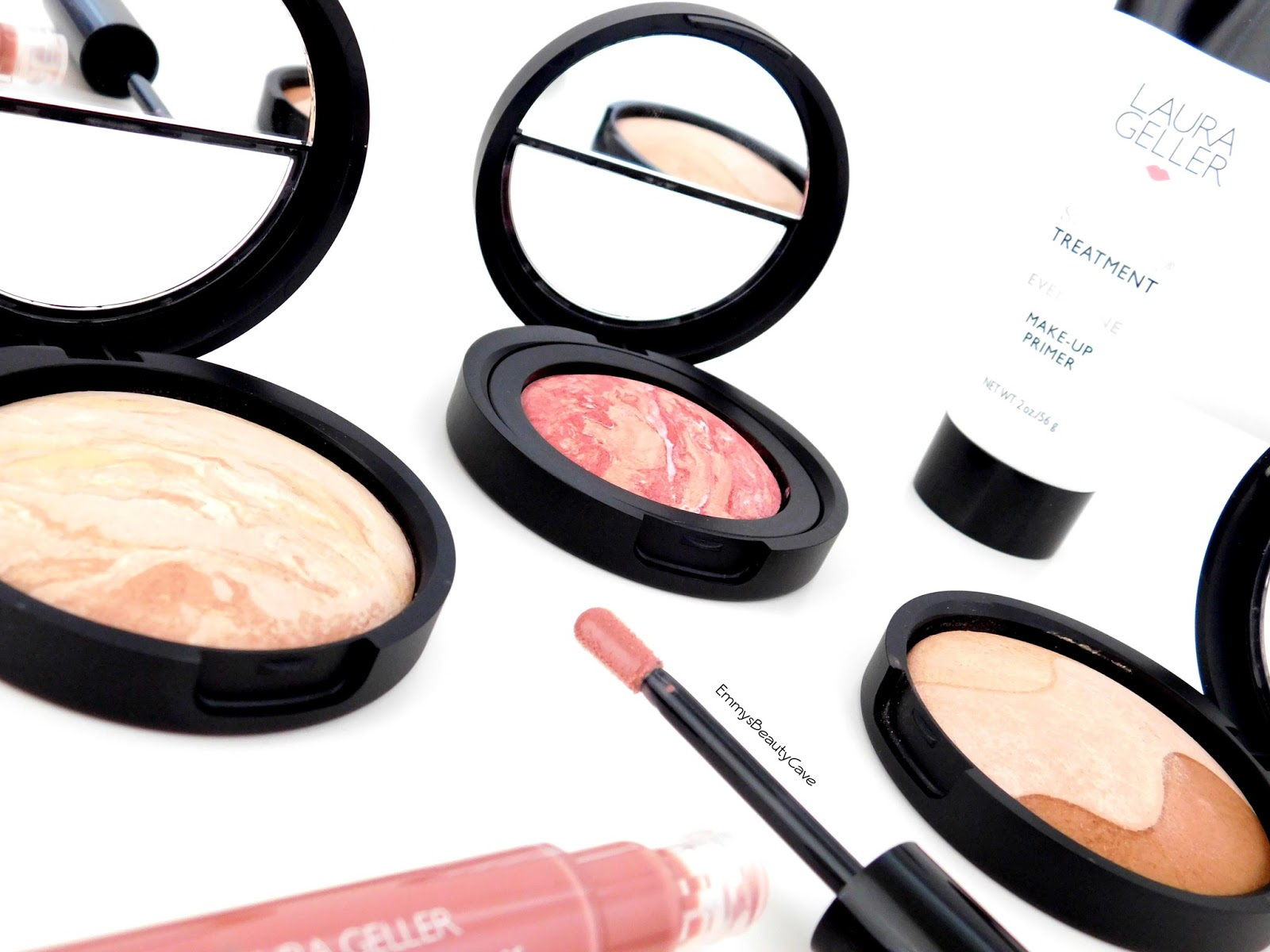 Laura Geller Makeup Reviews And Swatches Llaura Baked N Balance Foundation Brighten Blush