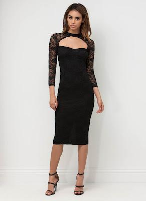 vestidos cortos de noche con manga larga