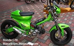 Kumpulan Modifikasi Honda C70 Motor Minti Keren dan Unik