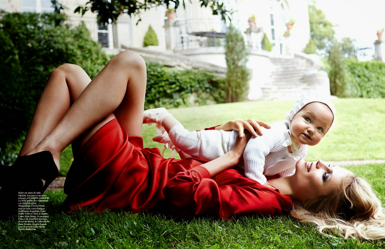 Natasha Poly And Aleksandra By Mario Testino For Vogue Paris