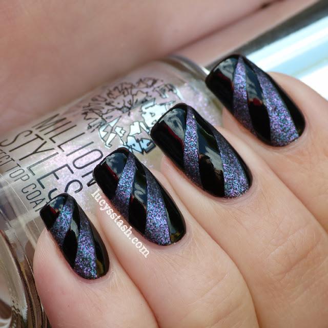 Lucy's Stash - Matte & glossy tape nail art manicure