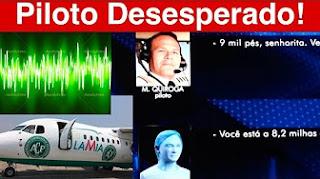 Ouça na ÍNTEGRA as Últimas Palavras DESESPERADAS do Piloto da Chapecoense Quando estava Caindo!