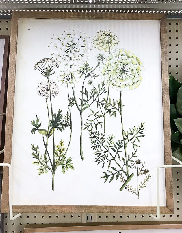 Hobby Lobby farmhouse dandelion art