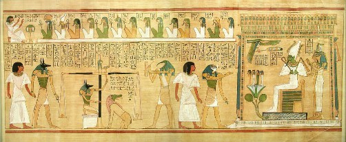 El Juicio de Osiris en el Papiro de Hunefer
