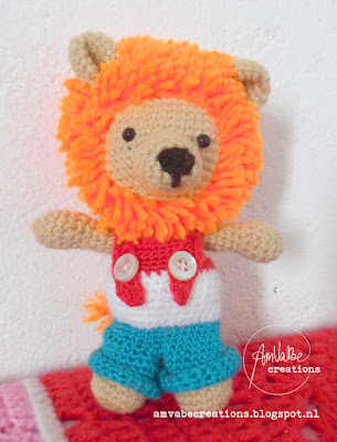 Lion Amigurumi Doll In Overalls
