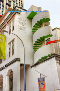 Goethe Institute, Shophouses with spiral staircase, Bukit Pasoh St, Singapore