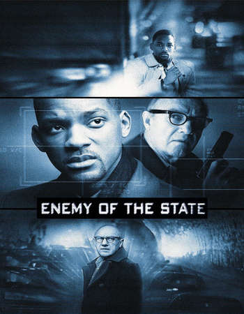 Poster Of Enemy of the State 1998 English 400MB BRRip 480p Watch Online Free Download Worldfree4u