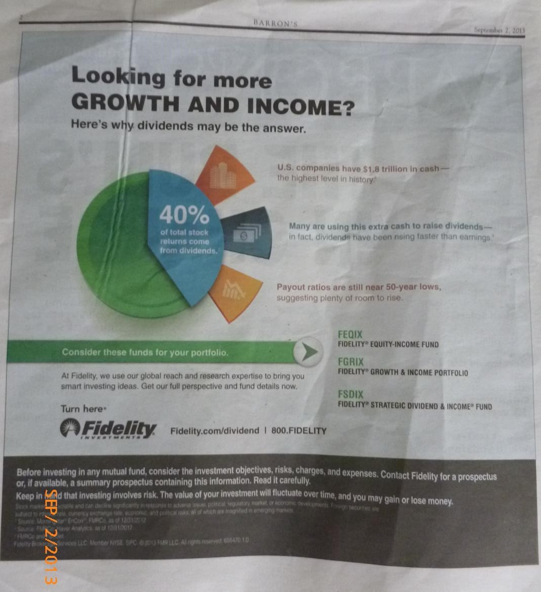 Fidelity Ads Of Mutual Fund Looking For More Growth And