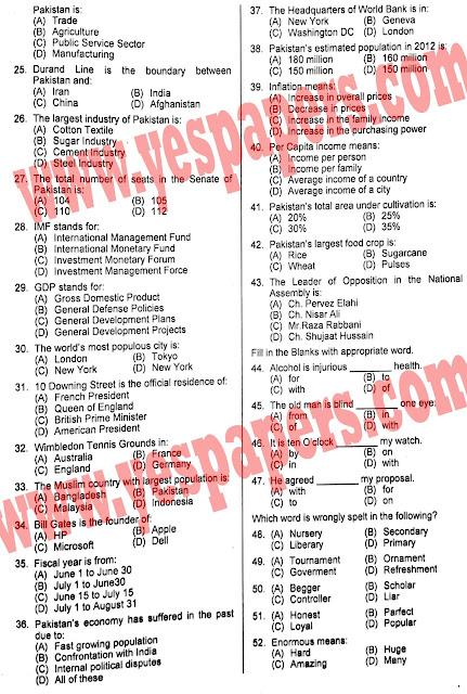 Inspector Cooperative societies 2012 part 2