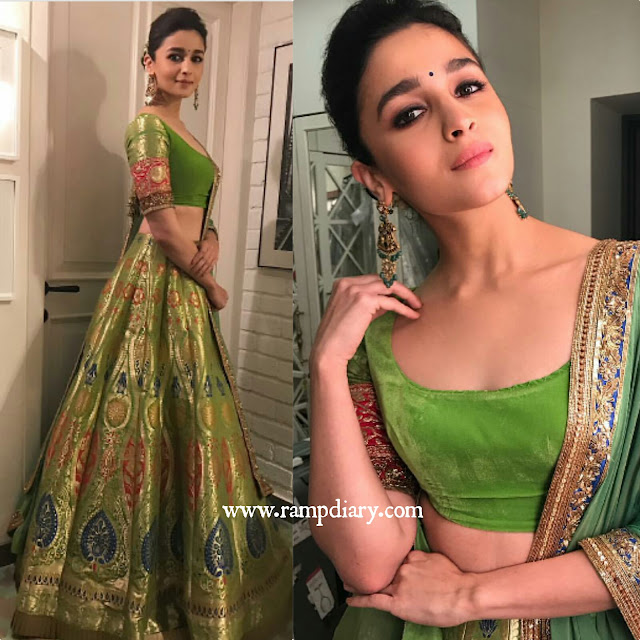 Alia Bhatt In Manish Malhotra fir Diwali Celebrations